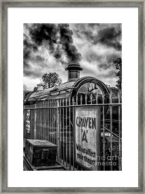 Station Sign Framed Print by Adrian Evans