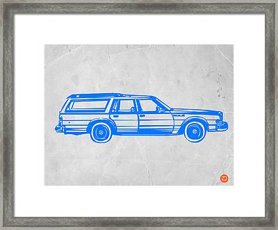 Station Wagon Framed Print by Naxart Studio