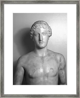 Statue Of Apollo Framed Print by Roman School