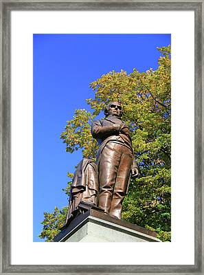 Statue Of Daniel Webster - Central Park # 2 Framed Print by Allen Beatty