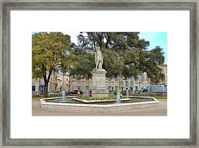 Statue Of Emperor Antoninus Pius Framed Print by Scott Carruthers