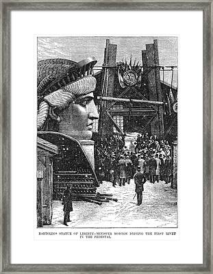 Statue Of Liberty, 1881 Framed Print by Granger