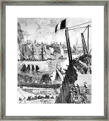 Statue Of Liberty, 1885 Framed Print by Granger