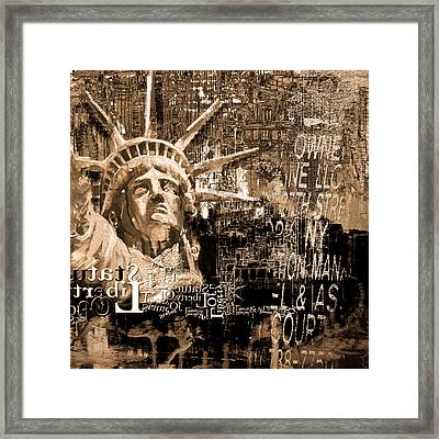 Statue Of Liberty 204 4  Framed Print by Mawra Tahreem