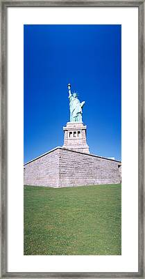 Statue Of Liberty And Pedestal, New York Framed Print by Panoramic Images