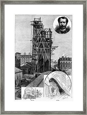 Statue Of Liberty, C1884 Framed Print by Granger