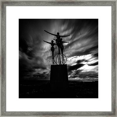 Statue Framed Print by Stelios Kleanthous