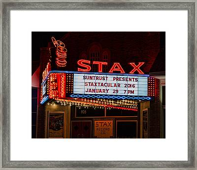 Staxtacular Night Framed Print by Stephen Stookey