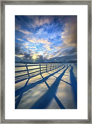 Staying Between The Lines Framed Print by Phil Koch