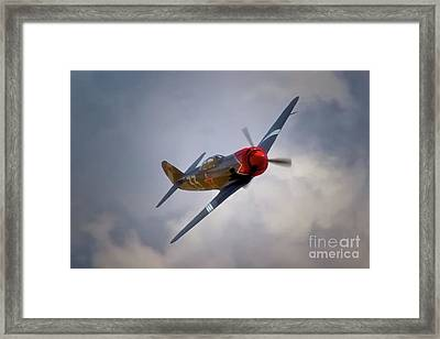 Steadfast Russian Yak Fighter And Will Whiteside Chino Air Show 2011 Framed Print by Gus McCrea