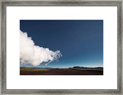Steam At Namaskard- Geothermal Volcanic Framed Print by Panoramic Images