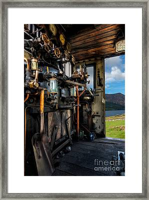 Steam Locomotive Footplate Framed Print by Adrian Evans