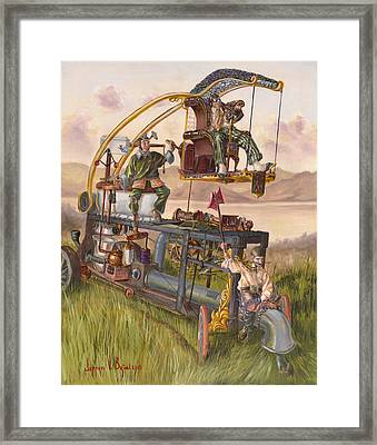 Steam Powered Rodent Remover Framed Print by Jeff Brimley