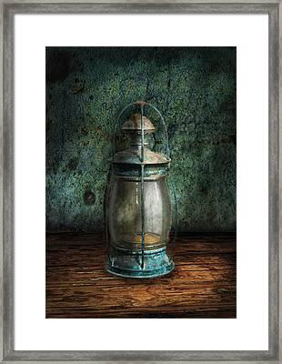 Steampunk - An Old Lantern Framed Print by Mike Savad