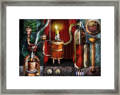 Steampunk - Coffee Break Framed Print by Mike Savad