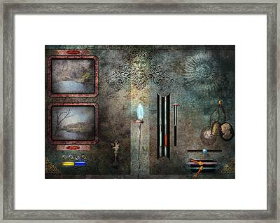 Steampunk - Control Panel Framed Print by Mike Savad