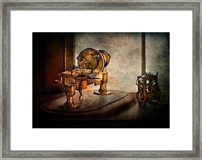Steampunk - Gear Technology Framed Print by Mike Savad