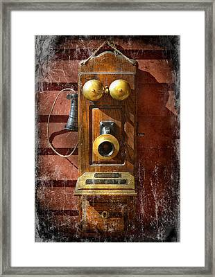 Steampunk - Phone Phace  Framed Print by Mike Savad