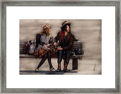 Steampunk - Time Travelers Framed Print by Mike Savad