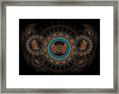 Steampunk Butterfly  Framed Print by Martin Capek