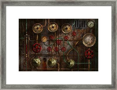 Steampunk - Plumbing - Job Jitters Framed Print by Mike Savad