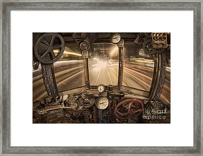 Steampunk Time Machine Framed Print by Keith Kapple