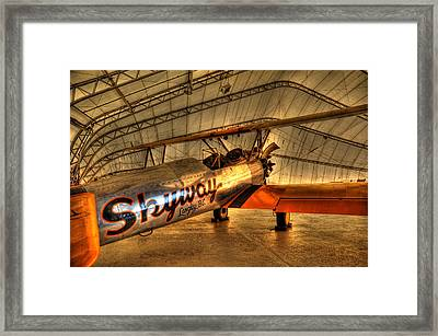Stearman Framed Print by Jason Evans