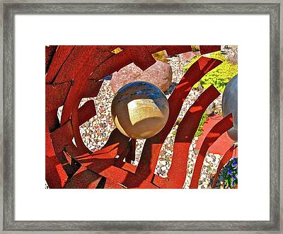 Steel And Shadows Framed Print by Randy Rosenberger