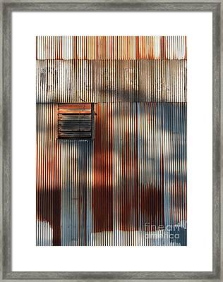 Steel Buildings I Framed Print by Chris Dutton