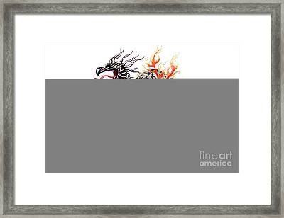 Steel Dragon Framed Print by Sally Siko