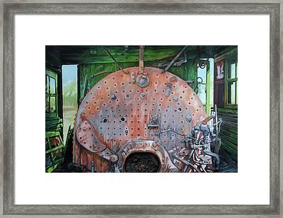 Steel Heart Framed Print by Chris Steinken