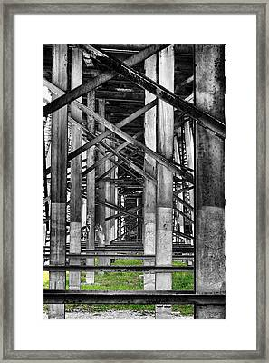 Steel Support Framed Print by Rudy Umans