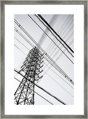 Steel Tower Framed Print by Ebiq