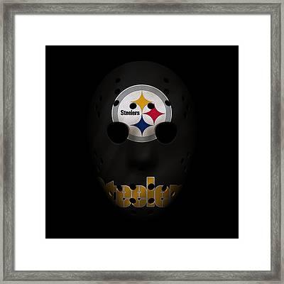 Steelers War Mask Framed Print by Joe Hamilton