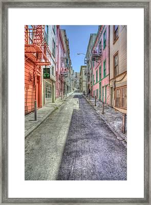 Steep Street Framed Print by Scott Norris