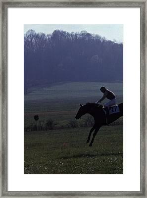 Steeplechase - 1 Framed Print by Randy Muir