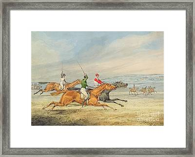 Steeplechasing Framed Print by Henry Thomas Alken