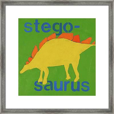 Stegosaurus Framed Print by Laurie Breen