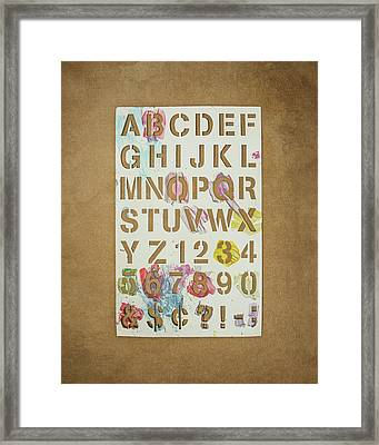 Stencil Alphabet Fun Framed Print by Scott Norris