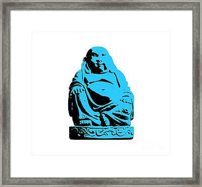 Stencil Buddha Framed Print by Pixel Chimp