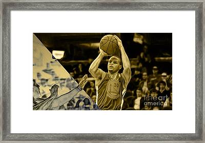 Steph Curry Collection Framed Print by Marvin Blaine