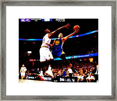 Steph Curry Left Hand Framed Print by Brian Reaves