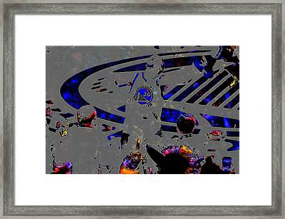 Steph Curry On Fire Framed Print by Brian Reaves