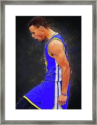 Steph Curry Framed Print by Semih Yurdabak