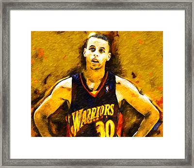 Steph Curry What A Jumper Framed Print by John Farr