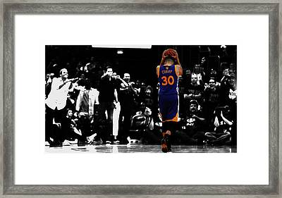 Stephen Curry 4f Framed Print by Brian Reaves
