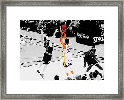 Stephen Curry Another 3 Framed Print by Brian Reaves