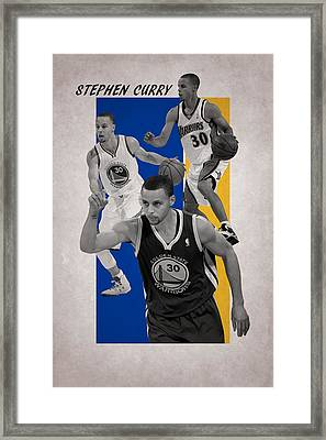 Stephen Curry Golden State Warriors Framed Print by Joe Hamilton