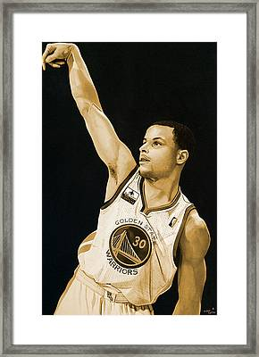 Stephen Curry Golden State Warriors   Framed Print by Michael  Pattison