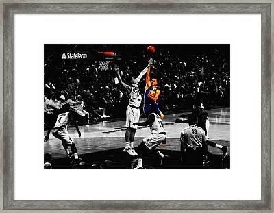 Stephen Curry Soft Touch Framed Print by Brian Reaves